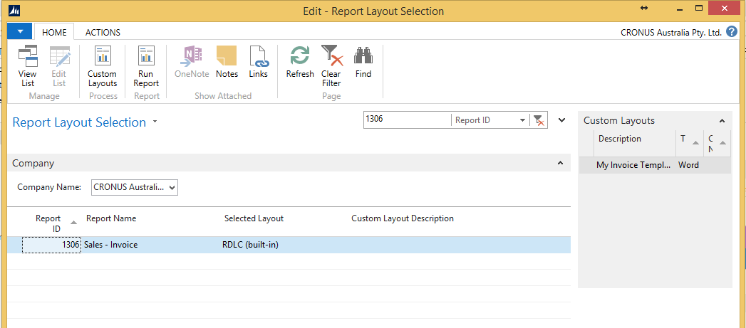 convert word layout to Dynamics NAV 2015 reports im3