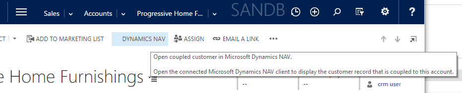 Microsoft Dynamics NAV 2016 native in CRM im27