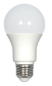 Satco S9214 - KolourOne LED - 7.6 Watt - 120 Volt - A19 ...