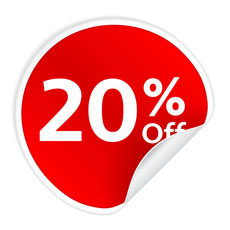 20% Discount on any purchase