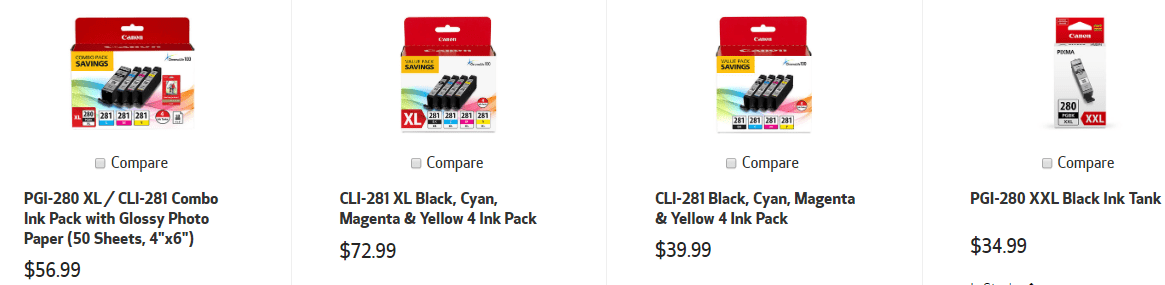 Canon Pixma TR8520 Ink Cartridges