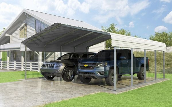 Versatube 20 X 20 Classic Carport Kit With 2 Height Extension