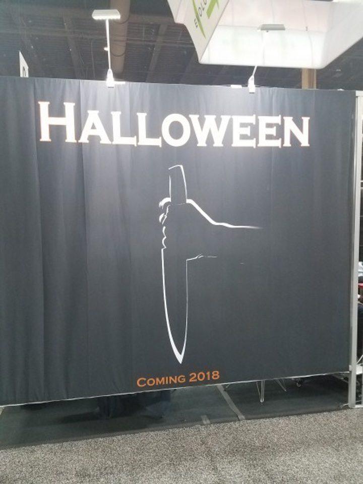Cartel promocional de la secuela de 'Halloween'