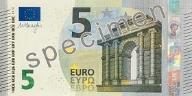 """5euro zserii """"Europa"""" – strona przednia"""