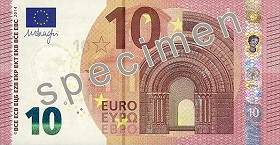 10 euro – strona przednia