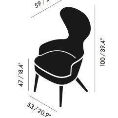 Tom Dixon Wing Back Chair James Harrison Wingback Dining By — | Ecc