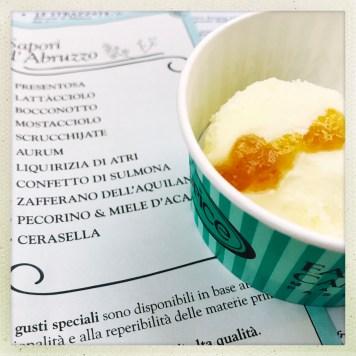 Pasticceria Caprice Perscara - gelato zafferano dell'acquilano