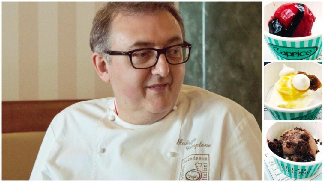 Fabrizio Camplone e il suo gelato da degustazione