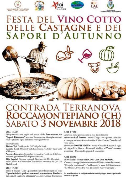 Festa del Vino cotto, Castagne e dei Sapori d'Autunno -Terranova di Roccamontepiano (Ch)