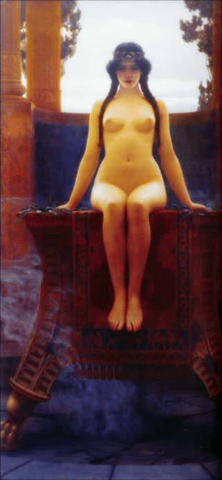 The Delphic Oracle - John William Godward, 1899