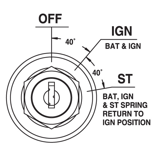 Marine 3 Pos Ignition Switch Off/Ign/Ign Sta