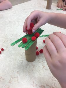 Preschool students participate in STREAM activity in their classroom