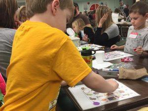 """Preschool and kindergarten families play """"Bingo for Books"""""""