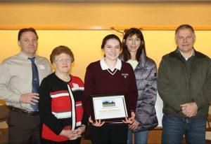 "Senior Kendra Smithbauer named Kreckel Enterprises 2018 ""Student of the Year"""