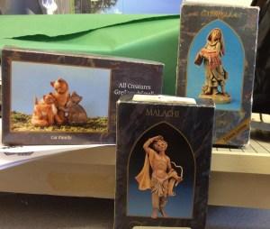 ECCHS FBLA Club selling Fontanini and Department 56 figurines