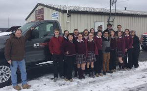 ECCHS FBLA Club tours local business