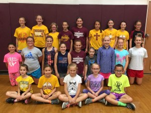 Little Spikers volleyball camp held recently