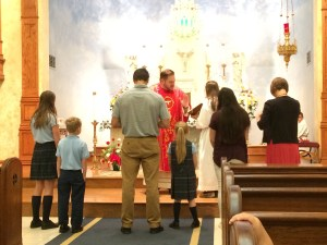 New students and teachers blessed at first Mass of the school year