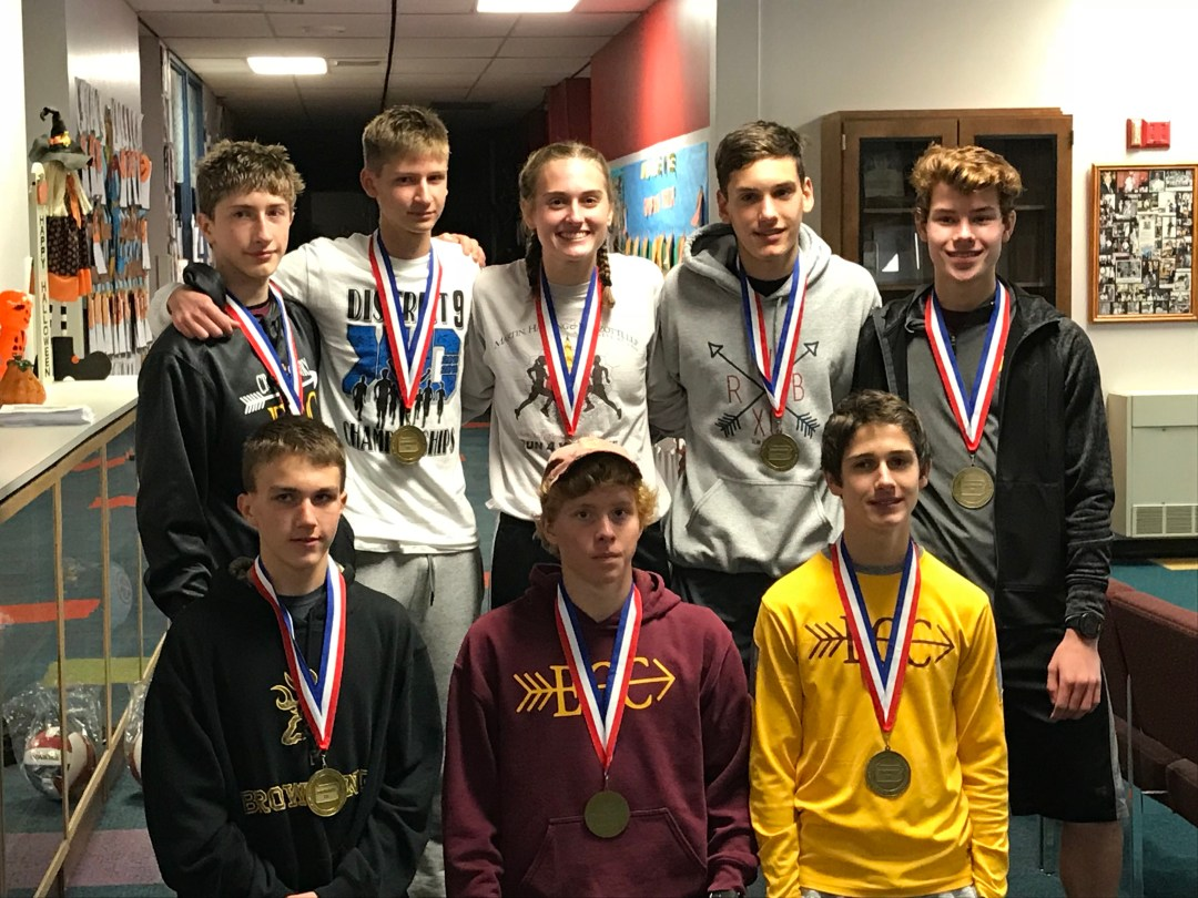 Crusader cross country team brings home D9 1A title
