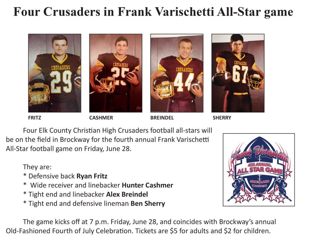 Four Crusaders in the Frank Varischetti All-Star Game June 28th!