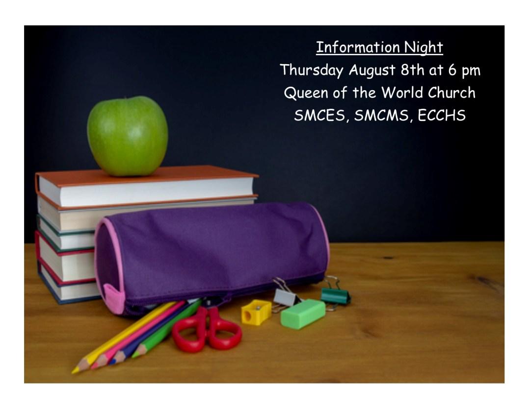 SMCES, SMCMS, & ECCHS Information Night