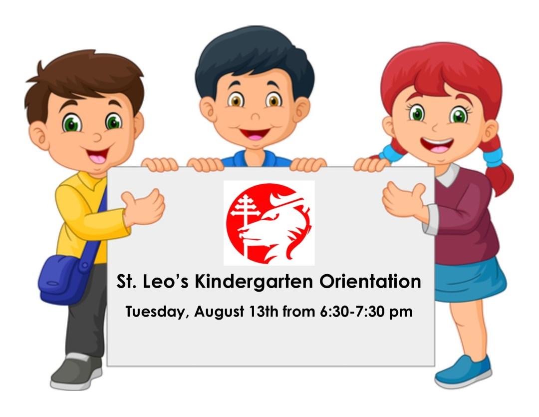 St. Leo's Kindergarten Orientation