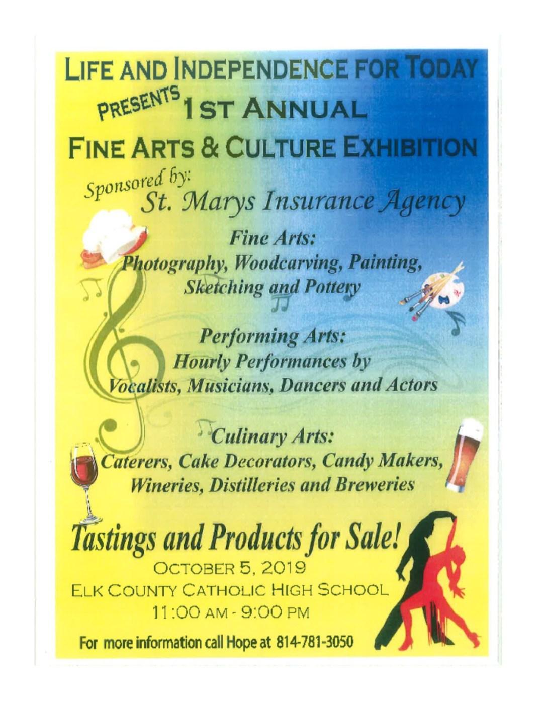 LIFT 1st Annual Fine Arts & Culture Exhibit October 5th at ECCHS!