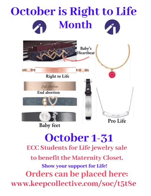 ECC Students for Life jewelry sale
