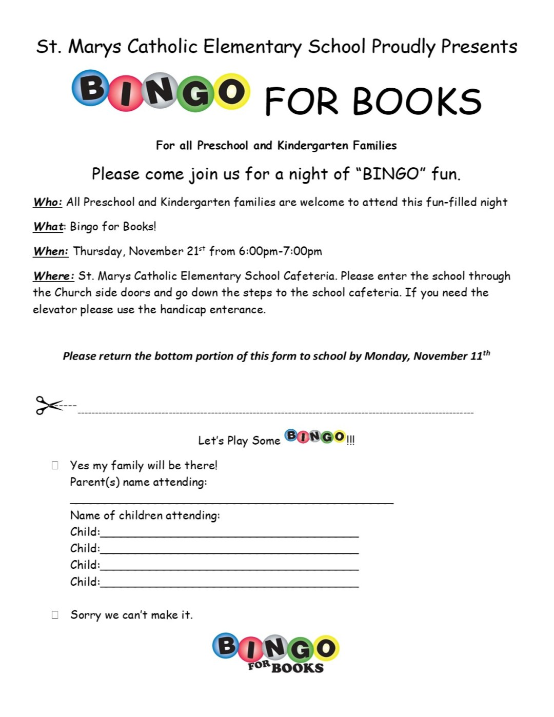 SMCES Bingo for Books 11/21/19