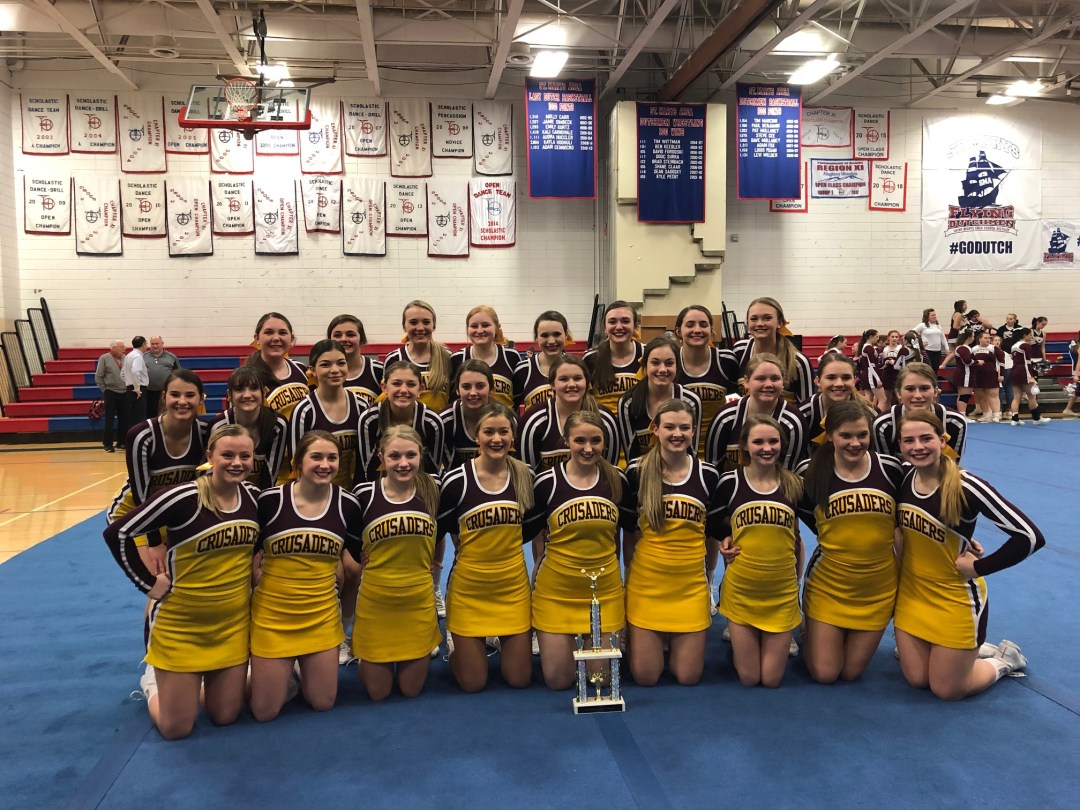 ECCHS Competition Cheer Team Wins County Tournament!