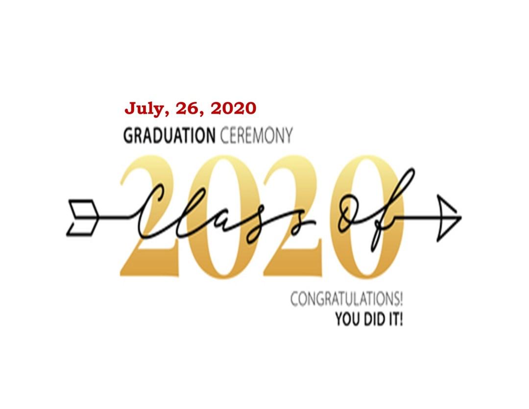 ECCHS Graduation Ceremony 7/26/2020!!