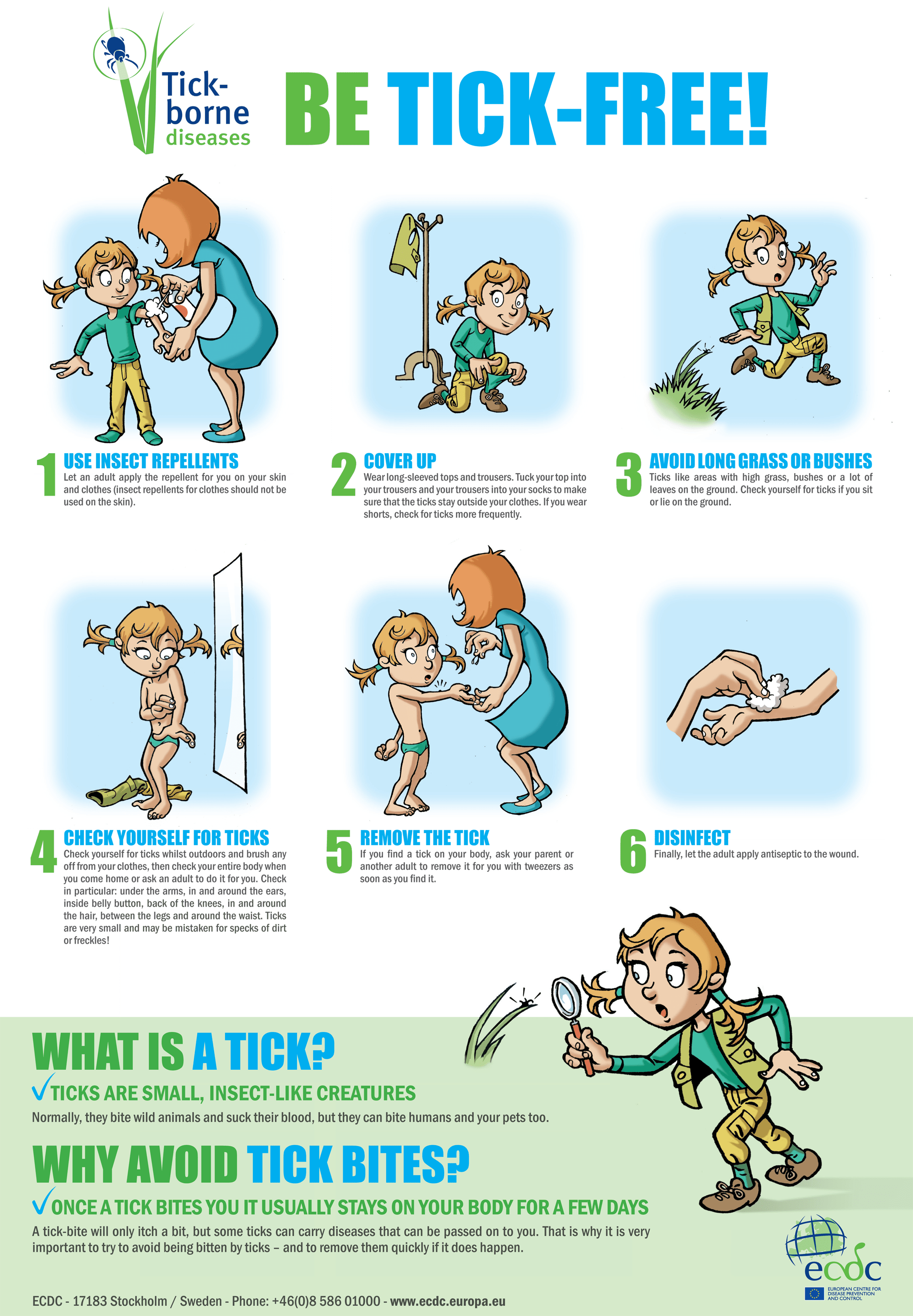 poster on ticks and preventive measures