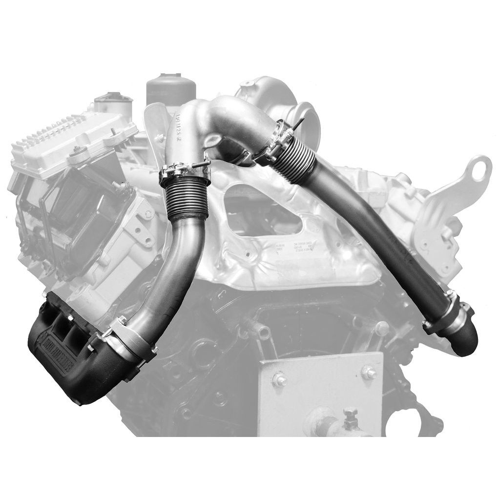 bd power exhaust manifold up pipes 03 07 ford 6 0l powerstroke