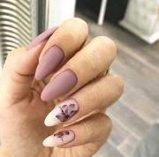 elegant rose gold nail design