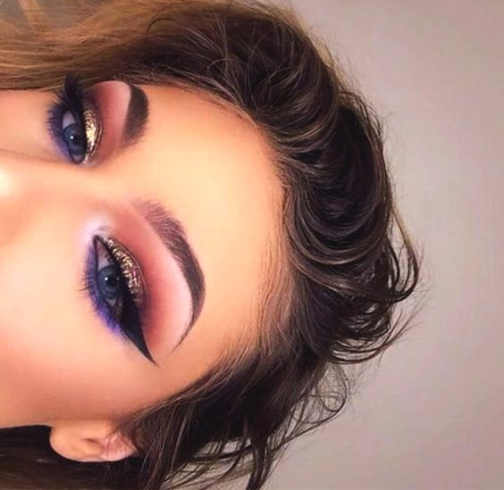 Gold Purple Eye Makeup Look Min Ecemella