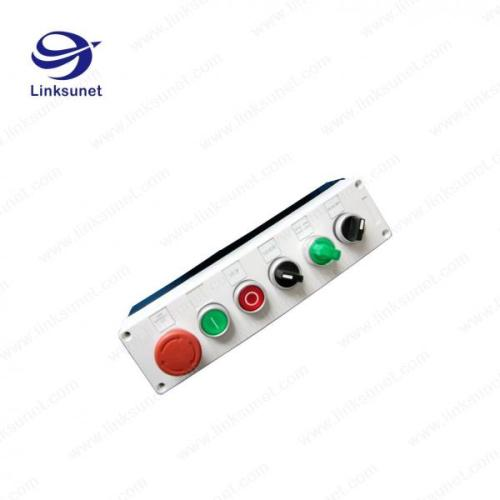 small resolution of two holes custom wiring harness processing plastic push button control box of custom wiring harness