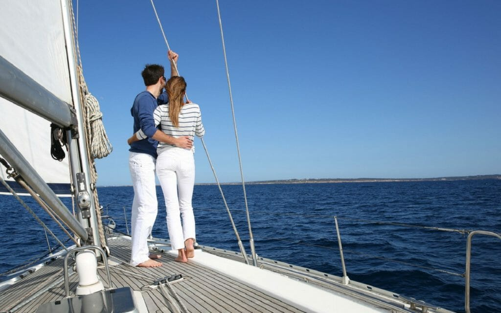 barca a vela per due persone rimini