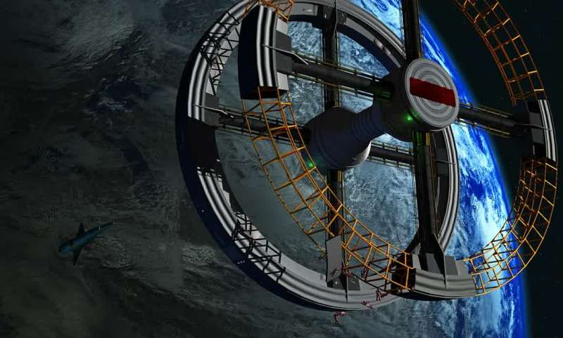 A space station