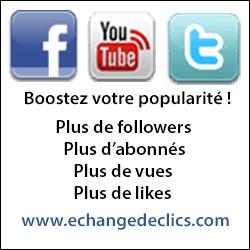 Plus de like sur Facebook, google, youtube ou twitter avec Echangedeclics.com