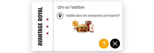 Carte de fidélité Burger King Kingdom : Réductions et