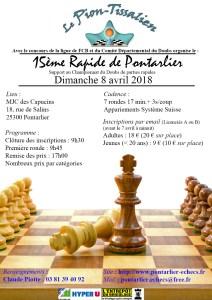 Affiche Rapide de Pontarlier 2018
