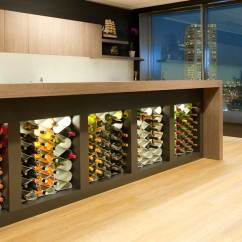 Kitchen Wine Rack What To Use Clean Cabinets Racks For Custom Kitchens Cellars Inserts Modular Cellar And