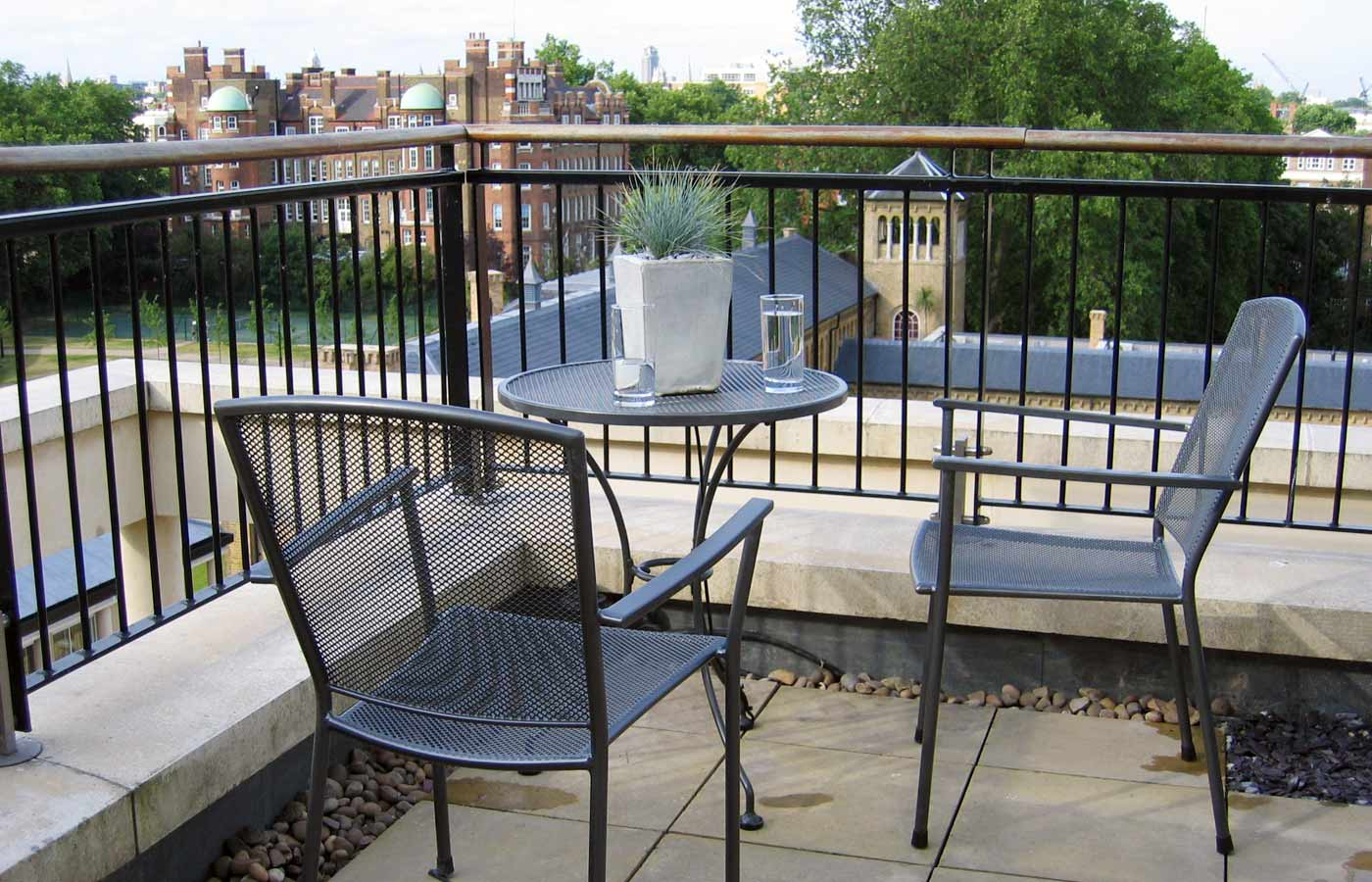 chair design for terrace grey nursery glider roof fulham london