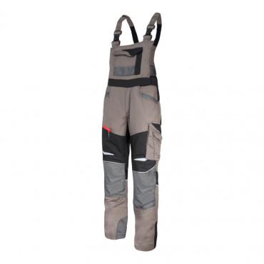 pantalon protectie cu pieptar slim fit