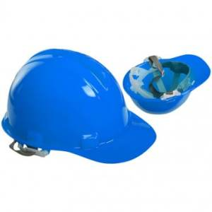 casca protectie albastra