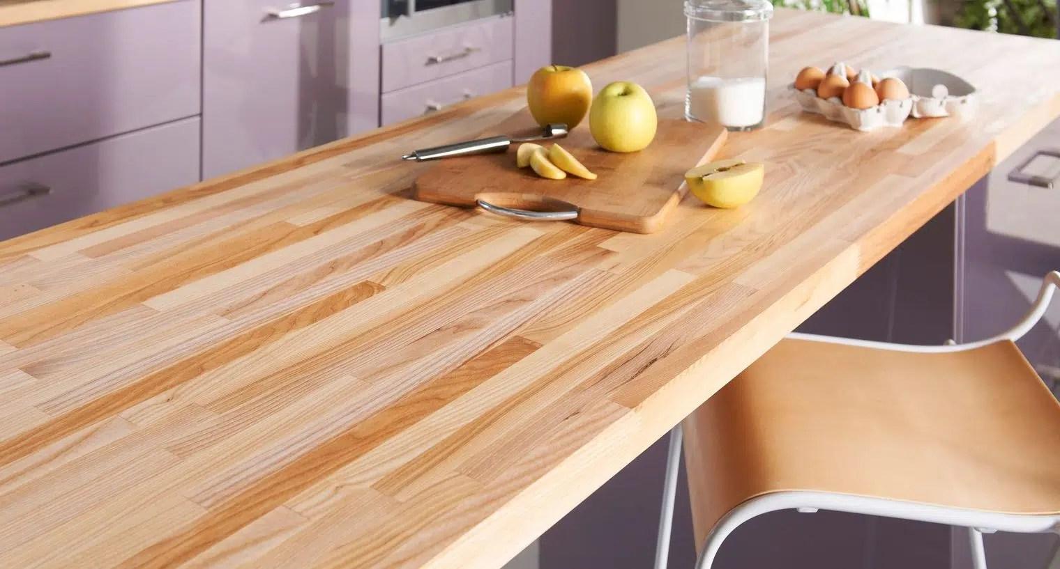 meuble cuisine en bois brut