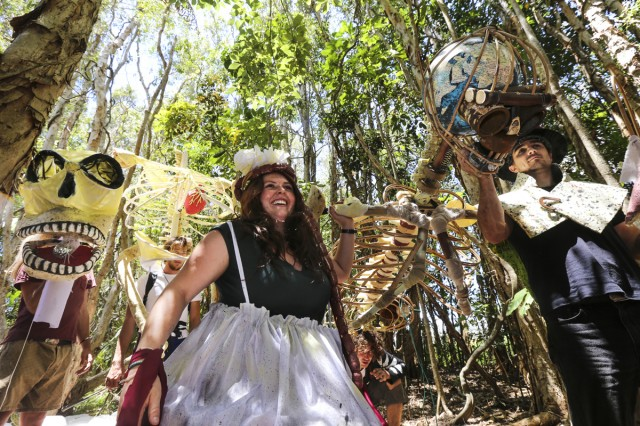 An unholy trinity of local performers and artists set to entice, entertain and enlighten Falls Festival patrons with the wicked delights of the Shire. Wacko, Mae Wild and Joel Salom along with over 100 local performers will conjure a creative, and slightly warped, oasis in the Village area between the two main stages.