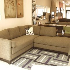 Chocolate Brown Leather Sectional Sofa With 2 Storage Ottomans Beddinge Bed Manual Sectionals, Sofas, Love Seats, Sleepers, And ...