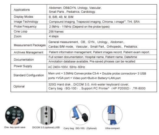 Echographe ECO 3 details techniques