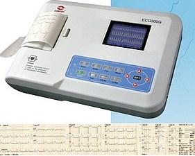 Vue générale de l' électrocardiographe ecg 300G de marque Contec